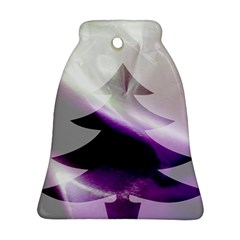 Purple Christmas Tree Ornament (bell)  by yoursparklingshop