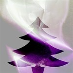 Purple Christmas Tree Happy New Year 3D Greeting Card (8x4) Inside