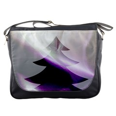 Purple Christmas Tree Messenger Bags by yoursparklingshop