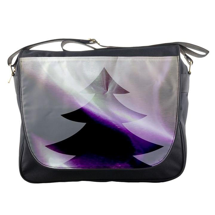Purple Christmas Tree Messenger Bags