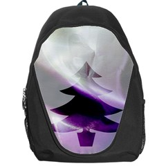 Purple Christmas Tree Backpack Bag by yoursparklingshop