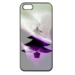 Purple Christmas Tree Apple Iphone 5 Seamless Case (black) by yoursparklingshop