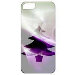Purple Christmas Tree Apple Iphone 5 Classic Hardshell Case by yoursparklingshop