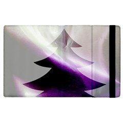 Purple Christmas Tree Apple Ipad 2 Flip Case by yoursparklingshop