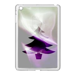 Purple Christmas Tree Apple Ipad Mini Case (white)