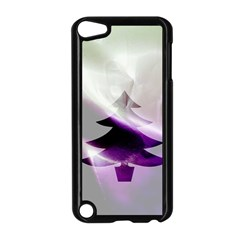 Purple Christmas Tree Apple Ipod Touch 5 Case (black) by yoursparklingshop