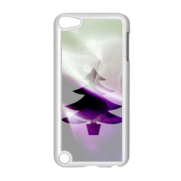 Purple Christmas Tree Apple iPod Touch 5 Case (White)