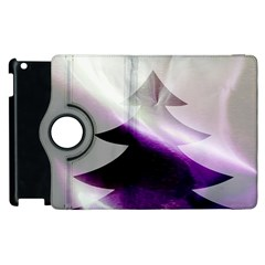 Purple Christmas Tree Apple Ipad 3/4 Flip 360 Case by yoursparklingshop