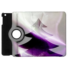 Purple Christmas Tree Apple Ipad Mini Flip 360 Case by yoursparklingshop