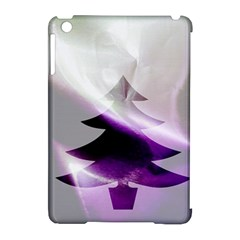 Purple Christmas Tree Apple Ipad Mini Hardshell Case (compatible With Smart Cover) by yoursparklingshop