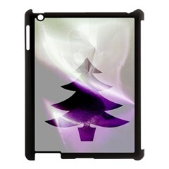 Purple Christmas Tree Apple Ipad 3/4 Case (black) by yoursparklingshop