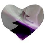 Purple Christmas Tree Large 19  Premium Heart Shape Cushions Back
