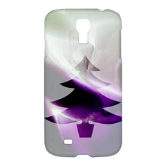 Purple Christmas Tree Samsung Galaxy S4 I9500/i9505 Hardshell Case by yoursparklingshop