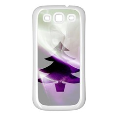 Purple Christmas Tree Samsung Galaxy S3 Back Case (white) by yoursparklingshop