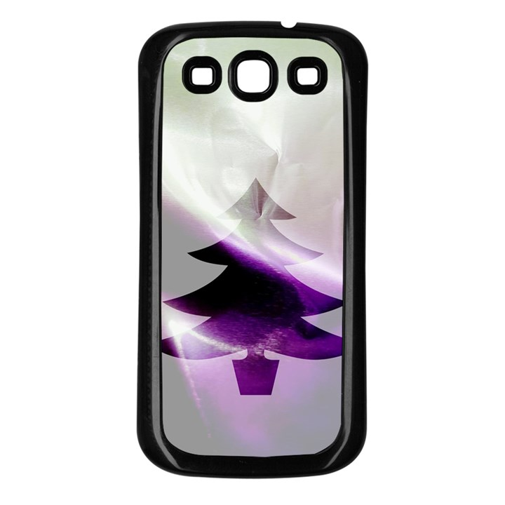 Purple Christmas Tree Samsung Galaxy S3 Back Case (Black)