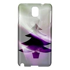 Purple Christmas Tree Samsung Galaxy Note 3 N9005 Hardshell Case