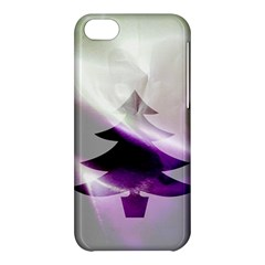 Purple Christmas Tree Apple Iphone 5c Hardshell Case by yoursparklingshop
