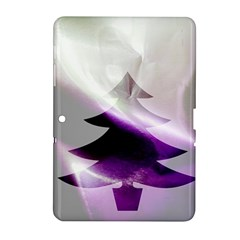 Purple Christmas Tree Samsung Galaxy Tab 2 (10 1 ) P5100 Hardshell Case  by yoursparklingshop