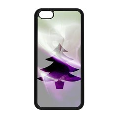 Purple Christmas Tree Apple Iphone 5c Seamless Case (black) by yoursparklingshop