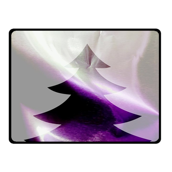 Purple Christmas Tree Double Sided Fleece Blanket (Small)