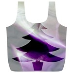 Purple Christmas Tree Full Print Recycle Bags (L)  Front