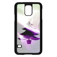 Purple Christmas Tree Samsung Galaxy S5 Case (black) by yoursparklingshop