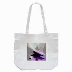 Purple Christmas Tree Tote Bag (white) by yoursparklingshop