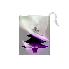 Purple Christmas Tree Drawstring Pouches (small)  by yoursparklingshop