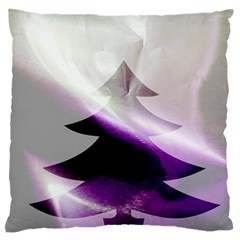 Purple Christmas Tree Standard Flano Cushion Case (one Side)