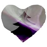 Purple Christmas Tree Large 19  Premium Flano Heart Shape Cushions Back