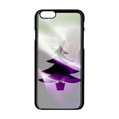 Purple Christmas Tree Apple Iphone 6/6s Black Enamel Case