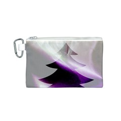 Purple Christmas Tree Canvas Cosmetic Bag (s) by yoursparklingshop