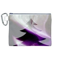 Purple Christmas Tree Canvas Cosmetic Bag (xl) by yoursparklingshop