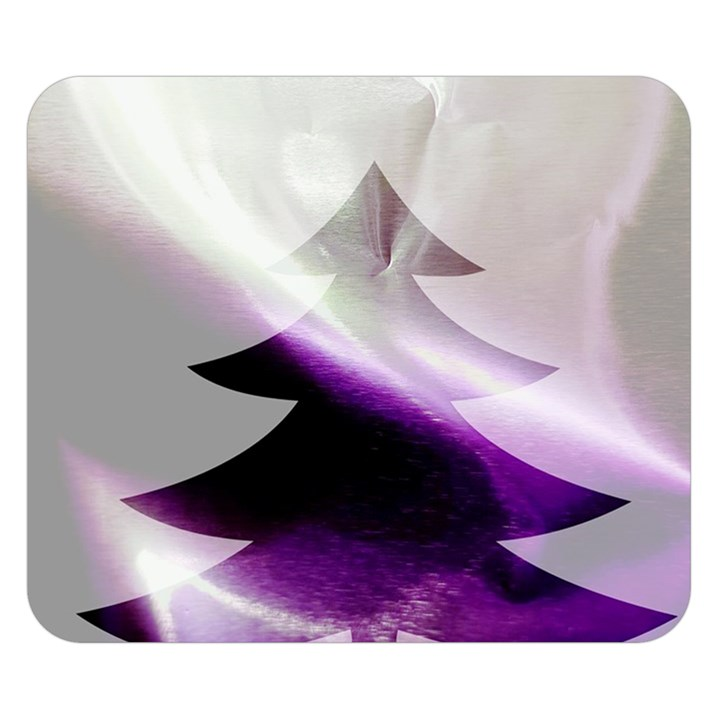 Purple Christmas Tree Double Sided Flano Blanket (Small)