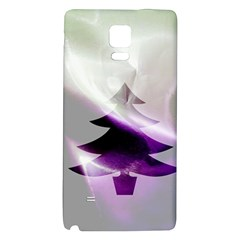 Purple Christmas Tree Galaxy Note 4 Back Case by yoursparklingshop