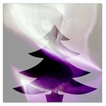 Purple Christmas Tree Large Satin Scarf (Square) Front