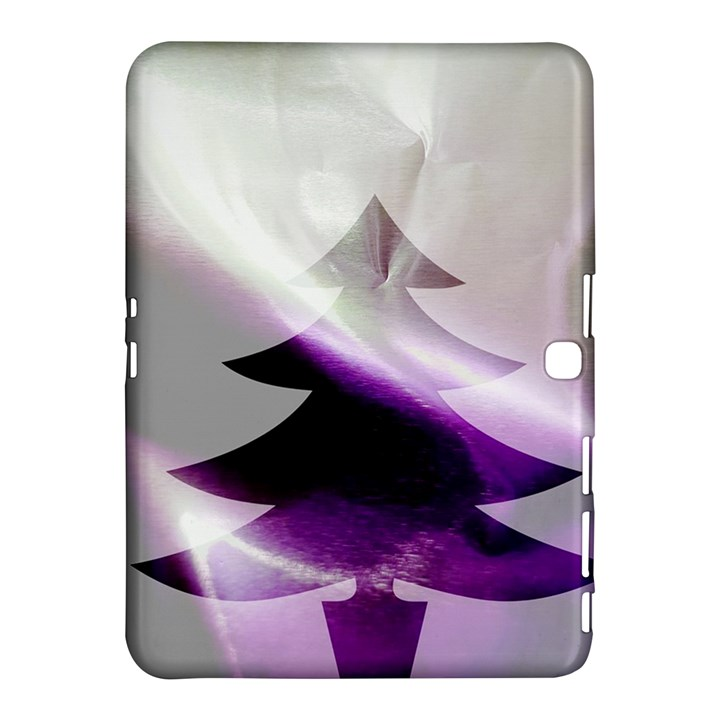 Purple Christmas Tree Samsung Galaxy Tab 4 (10.1 ) Hardshell Case
