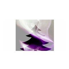 Purple Christmas Tree Satin Wrap
