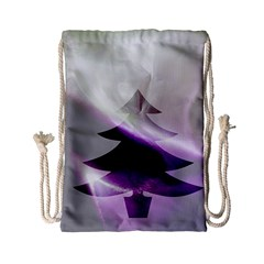 Purple Christmas Tree Drawstring Bag (small)