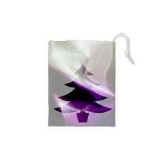Purple Christmas Tree Drawstring Pouches (xs)  by yoursparklingshop