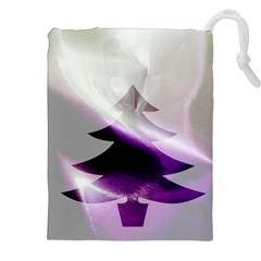 Purple Christmas Tree Drawstring Pouches (xxl) by yoursparklingshop