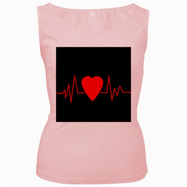 Hart bit Women s Pink Tank Top