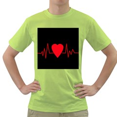 Hart Bit Green T Shirt