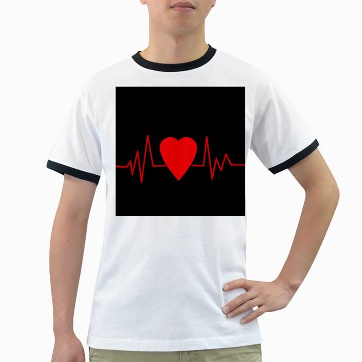 Hart bit Ringer T-Shirts