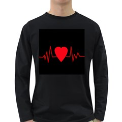 Hart Bit Long Sleeve Dark T Shirts