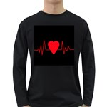Hart bit Long Sleeve Dark T-Shirts Front