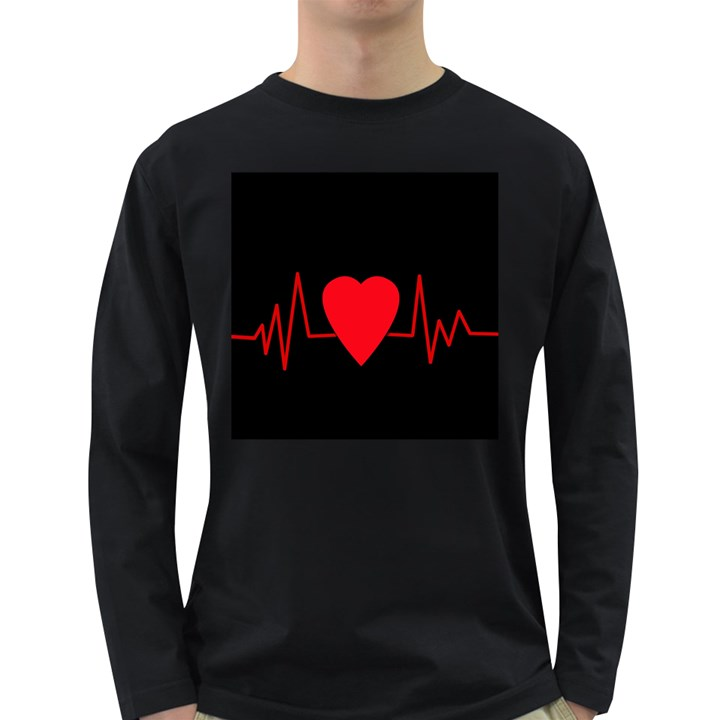 Hart bit Long Sleeve Dark T-Shirts