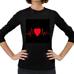 Hart Bit Women s Long Sleeve Dark T Shirts