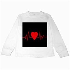 Hart Bit Kids Long Sleeve T Shirts by Valentinaart