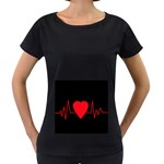 Hart bit Women s Loose-Fit T-Shirt (Black)